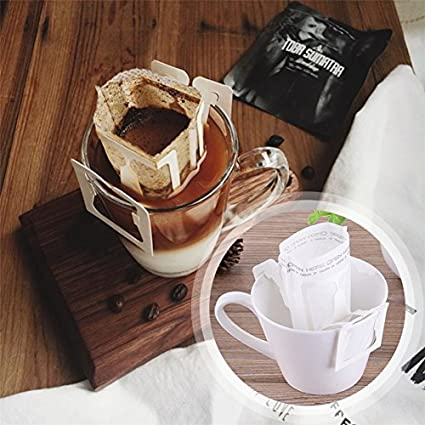 Amazon.com: 50Pcs / Pack Drip Coffee Filter Bag Portable ...