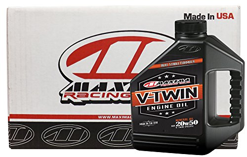 Maxima Racing Aceites 20w50 V-Twin Mineral Aceite de Motor, 4 Gallons (Pack of 4)