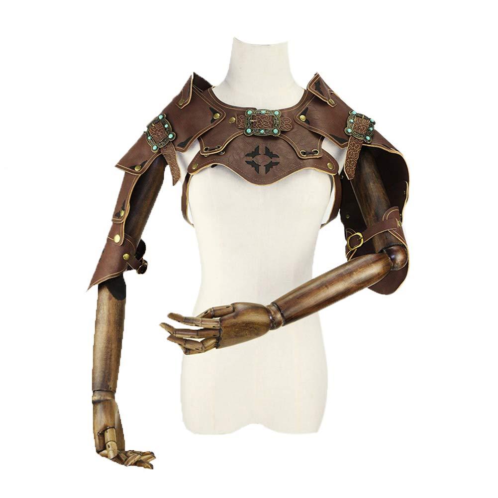FangjunxianST Steampunk Retro Leather Armor Shawl Cape Halloween Cosplay Props