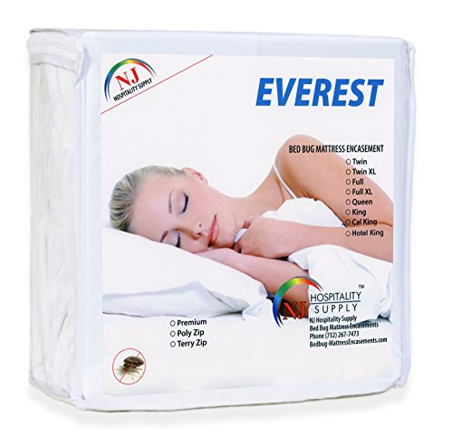 Depth 48in - Everest Supply Premium Mattress Encasement 100% Waterproof, Bed Bug Proof, Hypoallergenic Protector, Six Sided Cover, Machine Washable Three Quarter (48x75+8