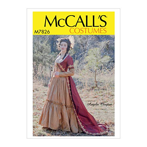 McCall's Patterns M7826A5 MCC 7826 M7826 A5 Misses Costume by Angela Clayton, Size 6-8-10-12-14, Extra Large]()