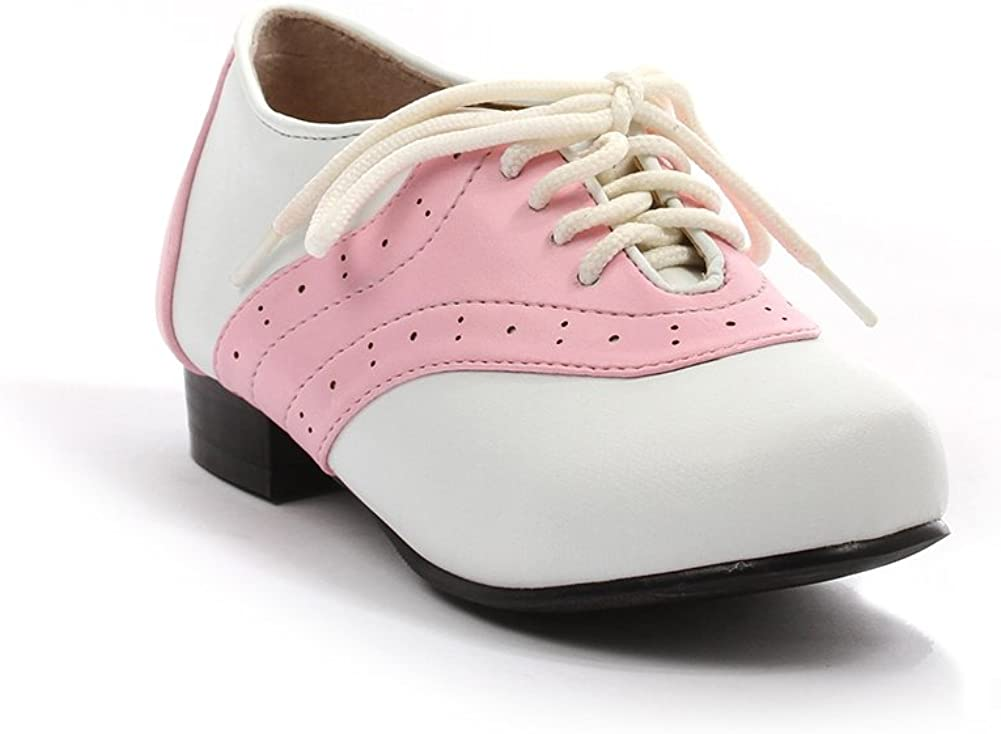 Childrens Pink and White Saddle Shoe