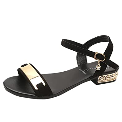 bd1676af7dab3 Beautyjourney Sandales Strass Femmes, Sandales Dorees Tongs Arena,Femmes  Bas Talon Anti DéRapage Plage