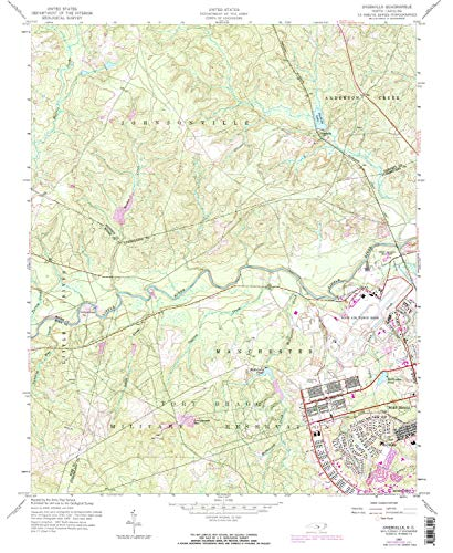 YellowMaps Overhills NC topo map, 1:24000 Scale, 7.5 X 7.5 Minute, Historical, 1957, Updated 1973, 26.8 x 22 in - Paper ()