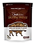 Fruitables Skinny Minis Grain Free Soft Dog Treats Grilled Bison Flavor 5 Oz For Sale