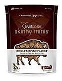 Fruitables Skinny Minis Grain Free Soft Dog Treats Grilled Bison Flavor 5 Oz For Sale
