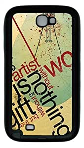 Abstract Typography Custom TPU Case Cover for Samsung Galaxy Note 2/ Note II/ N7100 Black