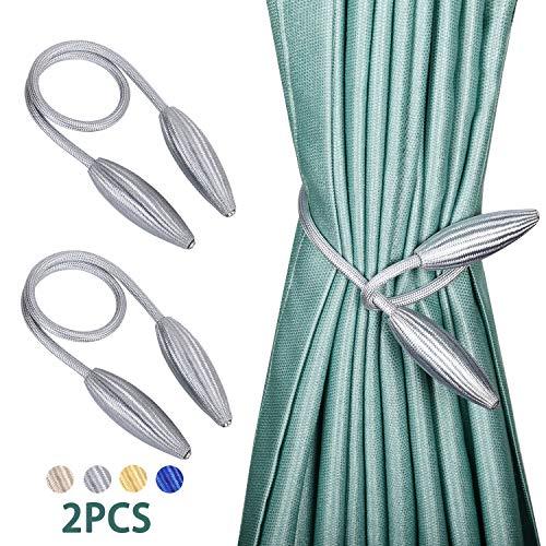 Western Curtain Tie Backs - 2-Pack Creative Curtain Tiebacks Window Drape Twist Tie Backs European Style Decorative Weave Rope Drapery Holdbacks for Window Drapries (16