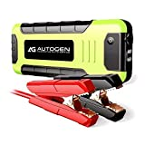 Car Jump Starter 2000 Amp AUTOGEN Portable booster for Vehicles (up to 8.0L Gas or 6.5L Diesel) & USB Quick Charge 3.0, with Heavy Duty Error-Proof Intelligent Cables for Cars Boats RVs & Mowers