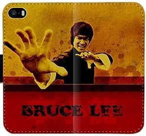 Bruce Lee Cotizaciones Absorber lo que es útil caja de cuero T8J9D Funda iPhone 5 5S 5SE funda 0LO16v dura protectora del teléfono celular Funda caso del tirón