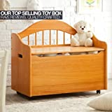Honey Limited Edition Toy Box, Toy Chest Keeps Room Tidy with Clear of Clutter, Helps Teach the Need of Getting Organized, Roomy Storage, Doubles as a Bench Bundle with Expert Guide for Better Life