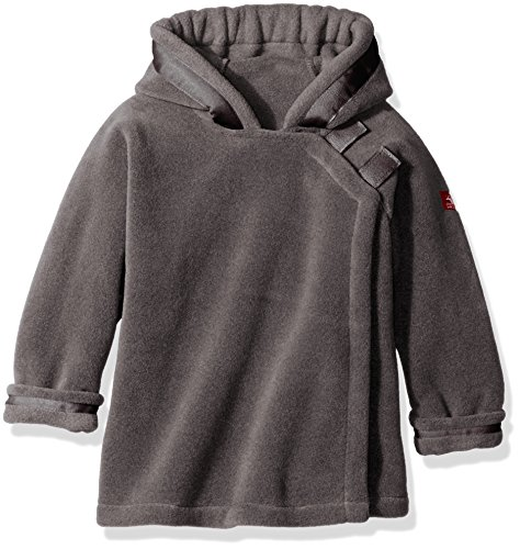 Hooded Wrap Jacket - Widgeon Little Boys Polar Tec Fleece Warm Plus Hooded Wrap Jacket, Heather Grey, 3