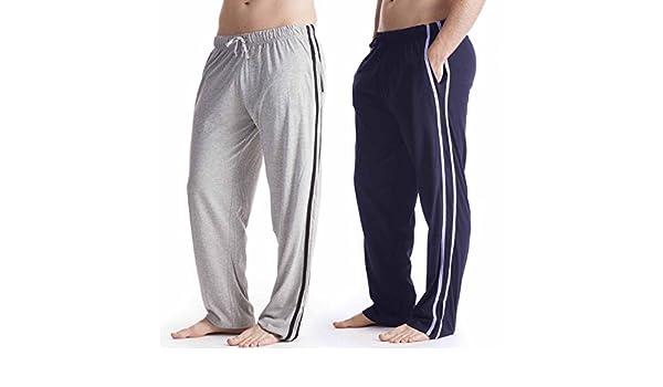 Pantalón largo de pijama para hombre, pack de 2 Gris Gris / Azul Marino Medium: Amazon.es: Ropa y accesorios