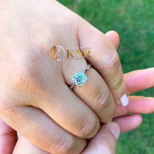 Cut Moissanite Solitaire - Four Prong 14K Solid White Gold Round Cut Moissanite Engagement Ring Deco, Bridal, Wedding, Anniversary, Solitaire Propose 1.50ctw
