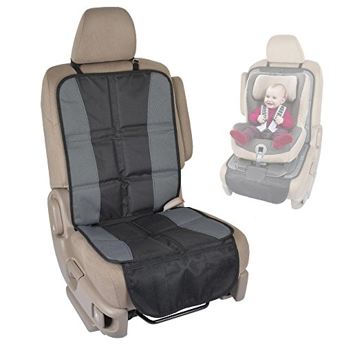 BDK SC058 1 Piece InstaSeat Protectors Child & Baby Seats-Premium Non-Slip Backing Protects Vehicle Interior for Car SUV Van Truck ()
