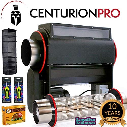 Centurion Pro Mini Trimmer with 2 Electropolished Tumblers Wet and Dry 25,000 Cuts per Minute Replacing 15 Human Trimmers Perfect Trimmer Small to Medium Grow Operations 10 Year Warranty