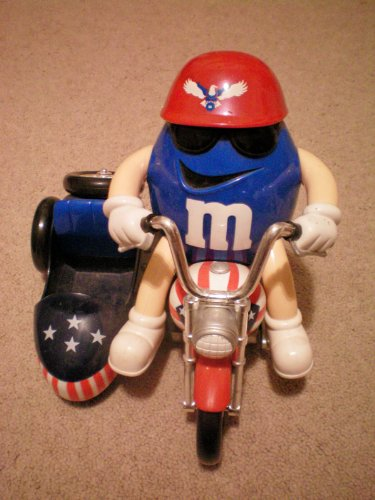 M & M Limited Edition Collectible -- Red White and Blue Moto