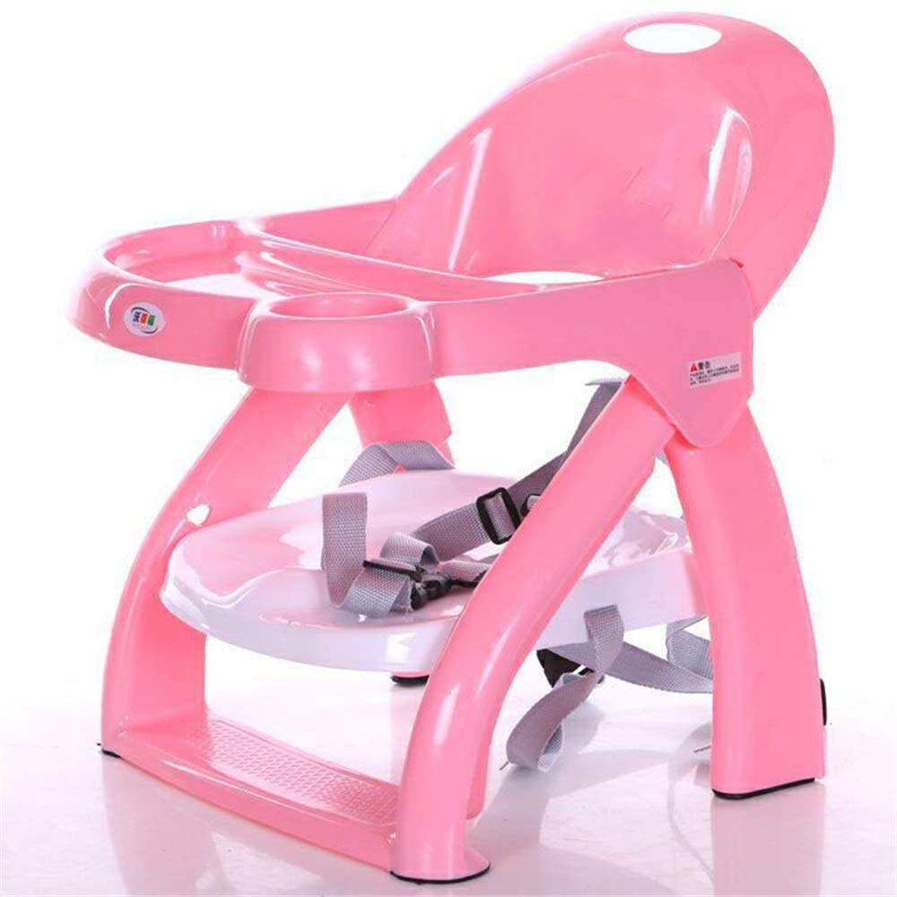 Kids' Desk & Chair Sets Removable Tray Dinning Chairs Baby Highchair Foldable Booster Seat Feeding Travel Infant Chair (Color : Pink, Size : 352843cm) by Liuxina
