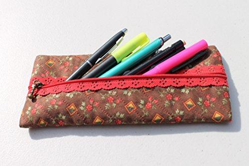 Estuche para lápices, plumas, plumones, colores u otros objetos, con tela de algodón, utilízalo para llevarlo en tu bolsa,...