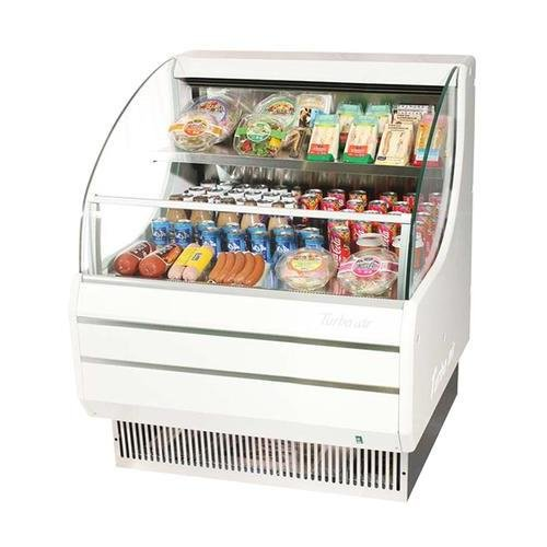 Turbo Air TOM30LSF 28 Low Profile Display Merchandiser with Modern Design Stainless Steel Front Panel Environmental Friendly Refrigeration System Standard Back-Guard and Anti-Rust Coating: White
