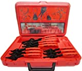 Wilde Tool 537 12-Piece Convertible Internal External Retaining Ring Pliers Set