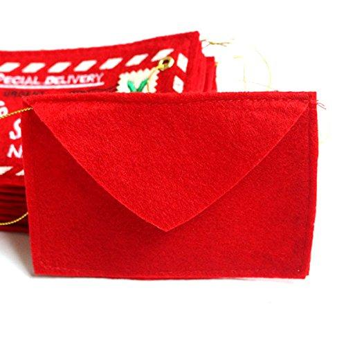Jocestyle Santa Claus Gift Money Card Holders with Envelopes Christmas Ornament Decor Set of 10 Photo #2