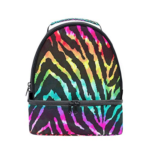 épaule à coloré nique Zebra réglable double déjeuner Wild Sac pour aquarelle Sangle Cooler pique fRqfUw1n