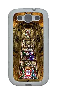 Stained Glass Custom TPU Rubber Soft Case and Cover for Samsung Galaxy S3 /S III White