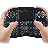 The Original iPazzPort 2.4Ghz RF Mini Wireless Keyboard, 1-Color Backlit with Rechargable Li-ion Battery, 6'' x 4'' (New 2018 Model)