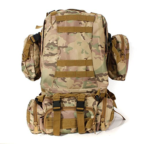 CAMTOA 50L Tactical Backpack Outdoor 50L 3D Molle Tactical Military  Rucksack Backpack Trekking Bag Camping ( cb385d7296bf1
