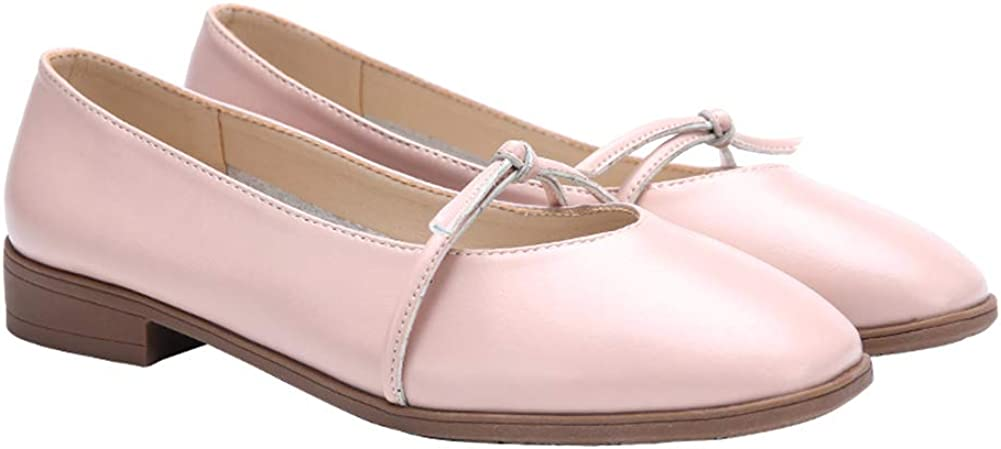 Femmes Ballerines Slip en Cuir Flats Bowknot Bout ferm/é Casual Mocassins Respirant Chaussures Plates