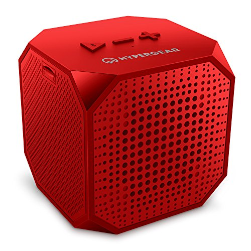 HyperGear Sound Cube Bluetooth Speakers, Rechargeable 5W Portable Wireless Speaker Compatible with All Bluetooth Devices, Build-in Microphone for iphone Ipad, Ipod Samsung Tablet Laptop - Red