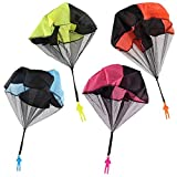 Sunshinetimes 4pcs Tangle Free Throwing Toy Parachute Man Children's Flying Toys Outdoor Play Game Toy