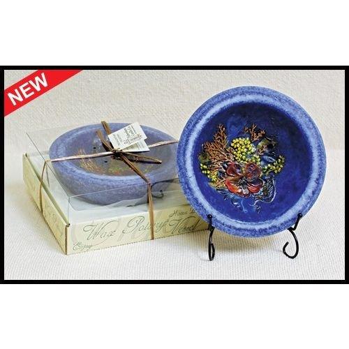 Habersham Candle Co. Indigo Amber Regular WAX Pottery Vessel