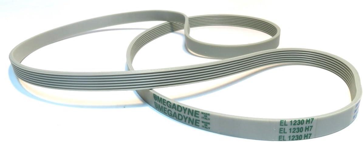 SoloCorreas Megadyne - Correa de Lavadora EL 1230 H7 (416004201 ...