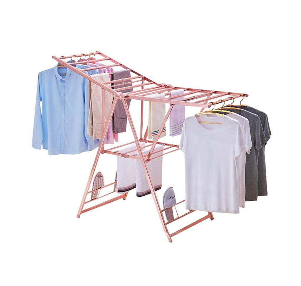 折りたたみ式の洗濯乾燥ラックモバイルバルコニーアルミ製の簡単な収納 B07KG4DN3Y