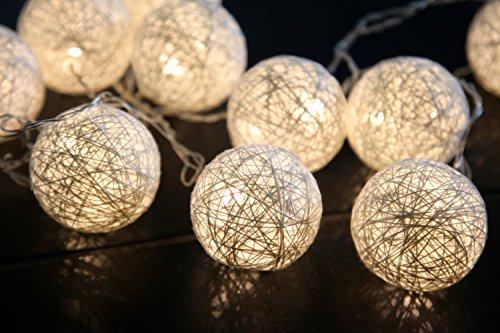 Star Jolly, Set con 10 luci LED e palline, colore: bianco caldo