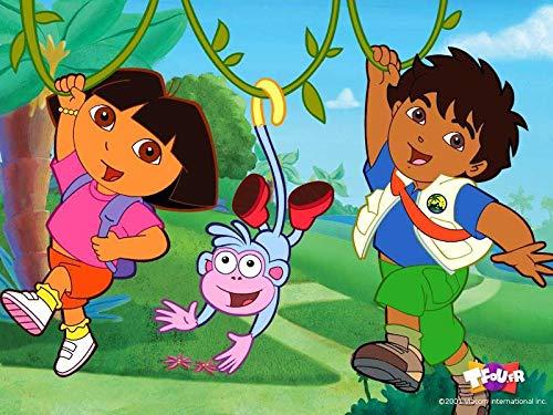Dora The Explorer Go Diego Go Boots Edible Cake Topper Image ABPID06291 - 1/2 sheet -