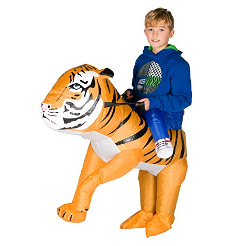 Safari Outfits For Adults (Bodysocks - Inflatable Tiger Piggyback Animal Zoo Children's Fancy Dress Costume)