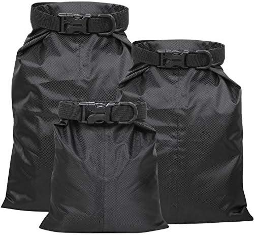 TRIXES Set mit 3 Wasserdichten Taschen - Perfekter Reisebedarf - kleine mittlere und große Größe -Schutz - Perfekt zum Angeln Segeln Camping Wandern