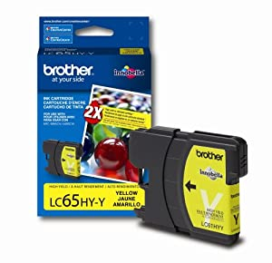 Brother LC65HYY High-Yield Ink Cartridge, 750 Page-Yield, Yellow from Brother Printer