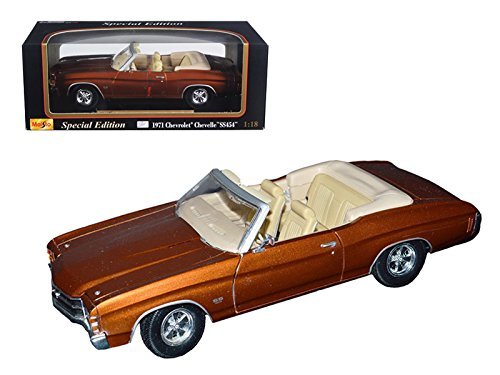 evrolet Chevelle SS 454 Convertible Brown 1/18 Diecast (1971 Chevelle Ss 454)