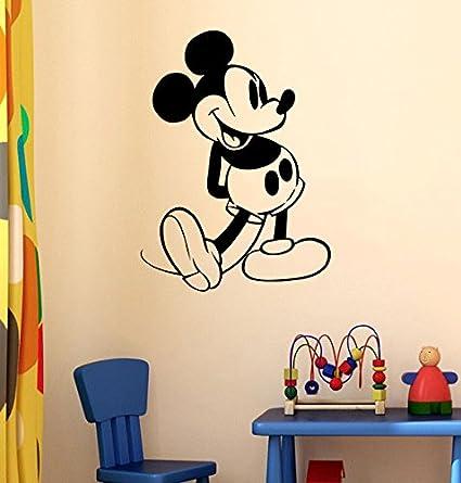 Amazon.com: Cartoon Disney Interior Design Mickey Mouse Vinyl Decal ...