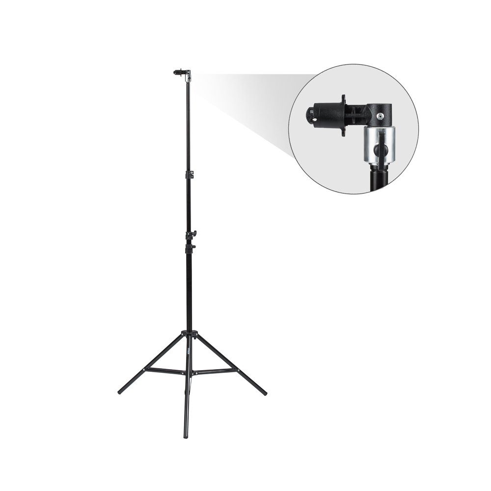 Fovitec StudioPRO - 1x 7'6'' Pop Out Muslin Backdrop & Reflector Clip Stand - [Includes Light Stand and Clip][Backgrounds Sold Separately]