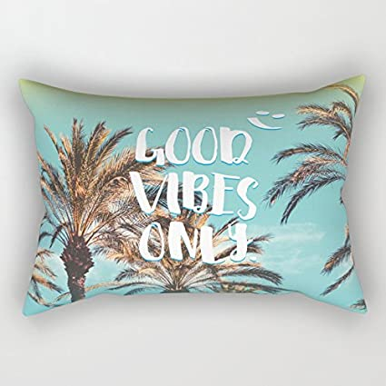 Good Vibes - Fundas de cojín rectangulares (40 x 60 cm ...