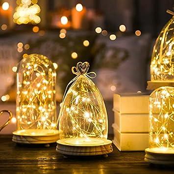 LED-Lichterketten, APICI 5M 50 LED Kupferdraht Lichterkette ...