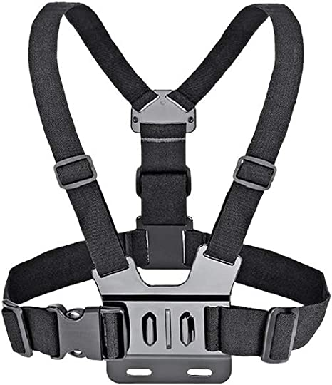 J-Hook Session Black+Aluminum Thumbscrew Fully Adjustable Strap Size Perfect for Most Sports Chest Mount Harness Strap for Gopro Hero 7 6 5 4 3 3