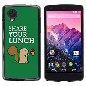 YOYOSHOP [Funny Squirrel Share Your Lunch] LG Google Nexus 5 Case by icecream design