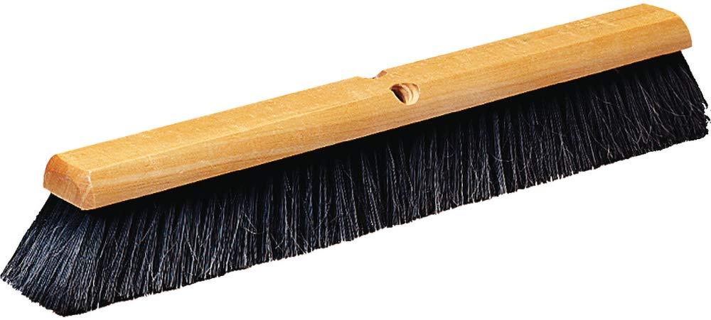 Carlisle 4503003 Flagged Fine Floor Sweep, Blended Horsehair Bristles, 18'' Length, 3'' Bristle Trim, Black (Pack of 12)