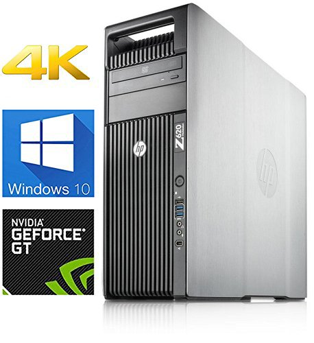 (HP Z620 4K Gaming Computer | 6-Core Xeon CPU upto 3.8GHz CPU | 16GB DDR3 RAM- New 500GB SSD & New 1TB HDD- GT730 4GB Graphics Card | Windows 10 | WiFi (Certified Refurbished))